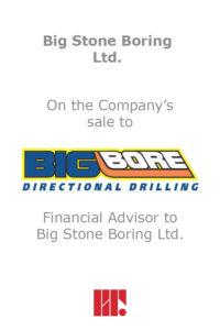 Transaction experience - Big Stone Boring