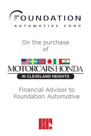 Foundation Automotive purchases Motorcars Honda
